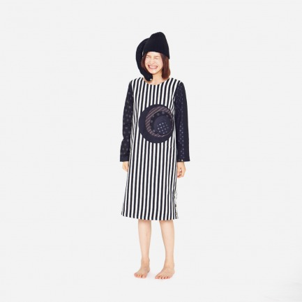 「Papasola」- 黑白拼接连衣裙(定制款,一周左右发货)