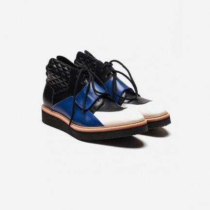 【KKtP MAIDEN VOYAGE系列】拼色运动感系带皮鞋