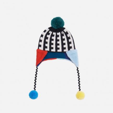 图形针织帽